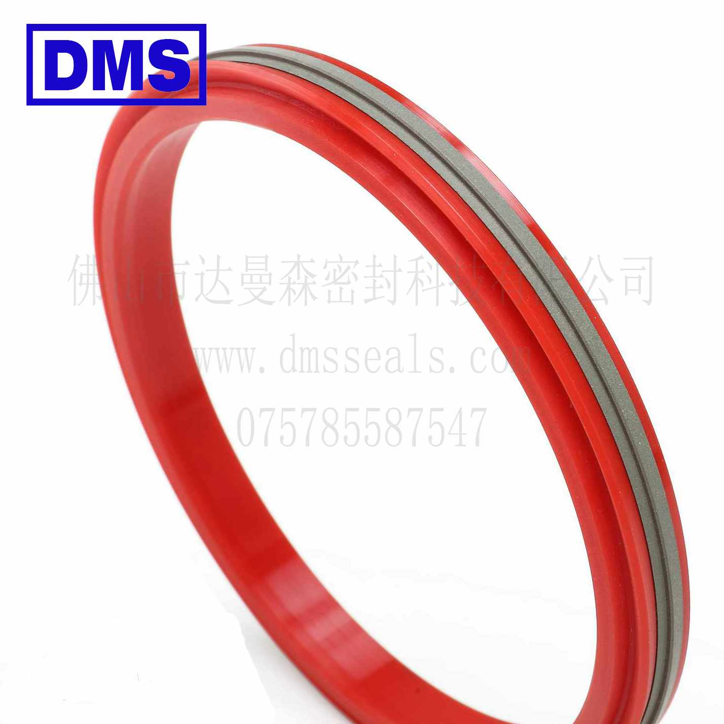DDA - PTFE Hydraulic Piston Seal with NBR/FKM O-Ring