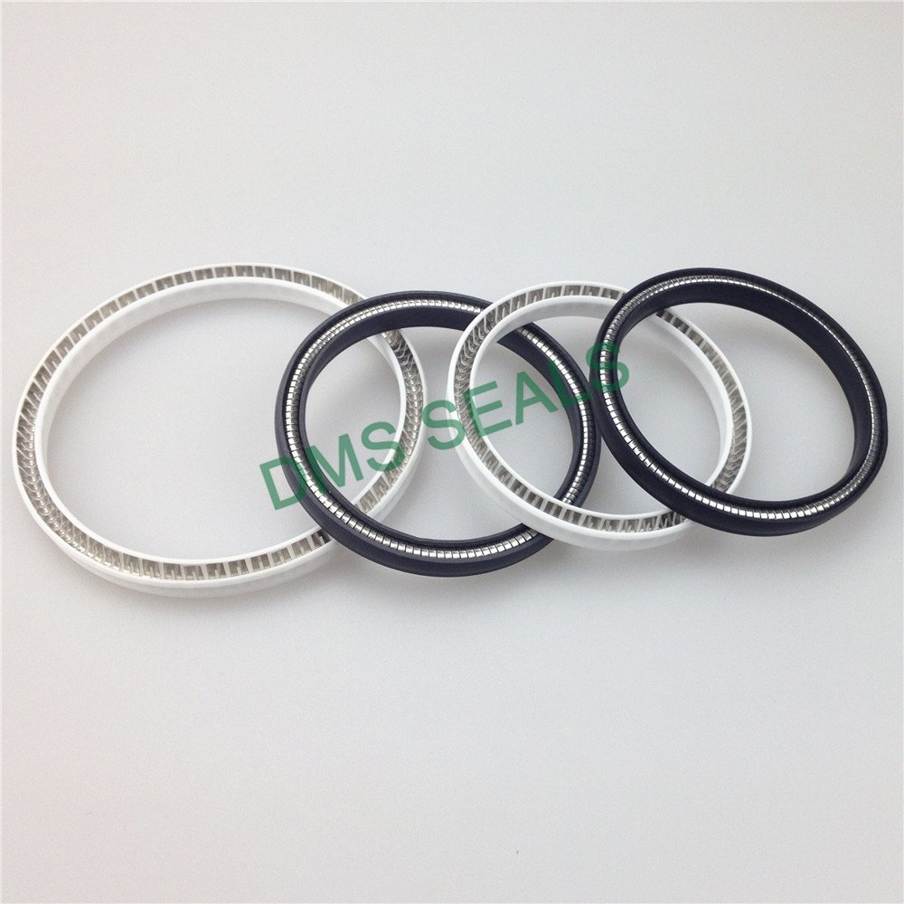 Carbon fiber filled PTFE spring energized seal