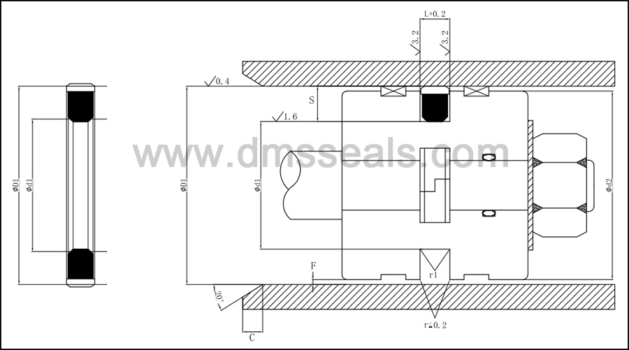 DMS Seal Manufacturer Brand hydraulic piston piston seals nbrfkm factory