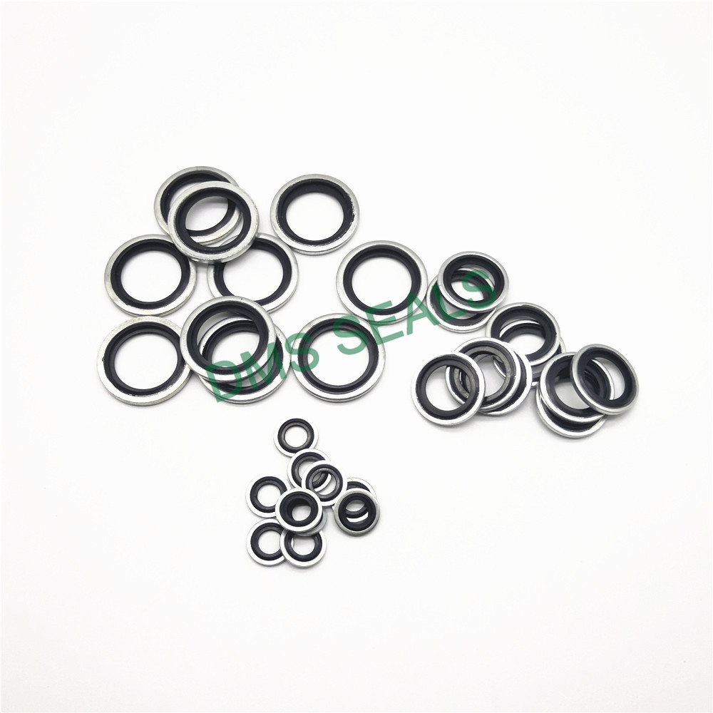 Self-centering dowty bonded seals washer
